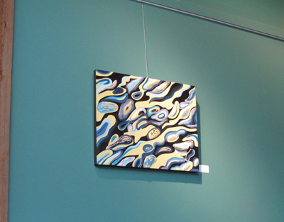 Mary Laucks Show at ArtSpring in 2013 painting is titled Fractures